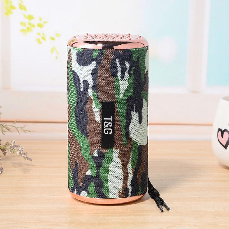 1200mAh Bluetooth Stereo Hifi Speaker 10W Portable Subwoofer with Gold Plating Outdoor Loudspeaker for Computer Tablet PC Cool Speakers