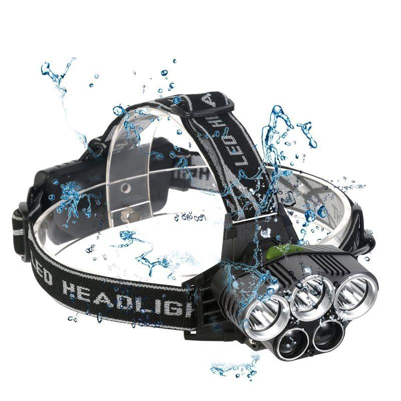 5 CREE LED faro XM-L T6 Q5 fari led campo di lampada frontale escursione emergenza attrezzature utilizzate all'aperto luce di pesca