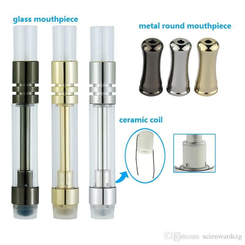 Hottest Ceramic Cartridge Pyrex Glass Vaporizer glass Drip Tip 510 Threat Atomizer Wickless Coil Tank for CE3 BUD Vape Batteries free DHL
