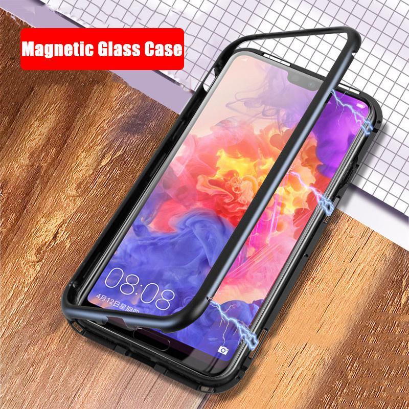 Funda magnética para Huawei Nova 3 para Huawei Nova 3i 3 Honor 10 Play Mate 10 Pro P20 Lite P20 Plus P 20 Cubierta de la caja de cristal
