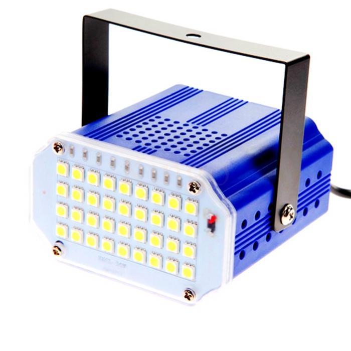 36 주도 높은 전력 화이트 RGB LED 무대 조명 DJ 스트로브 플래시 라이트 클럽 파티 축제 110V 220V EU / US 플러그 무료 배송