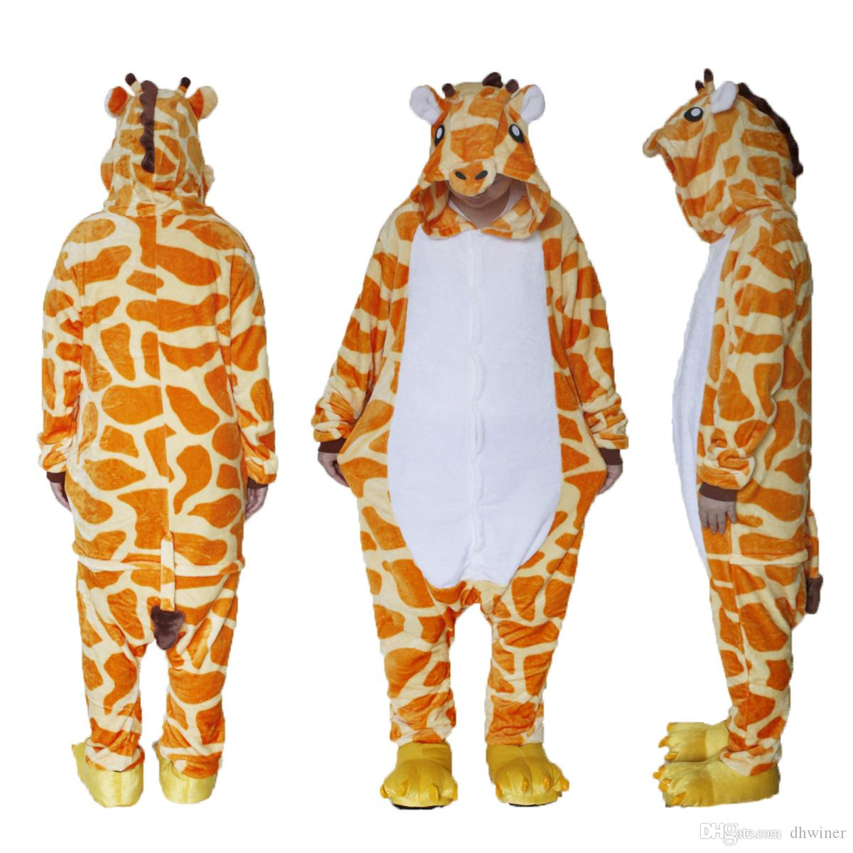 "Costume per adulti /""Giraffe/"" PELUCHE Party Costume"
