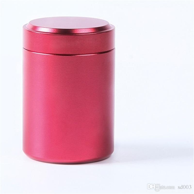 Sellado Tanque de Embalaje Almacenamiento Portátil Contenedor de Hierbas Secas Práctico Recipiente de Té Recipiente de Aluminio Vacío Hermético Secreto Fácil de Llevar 3 9 tc cc