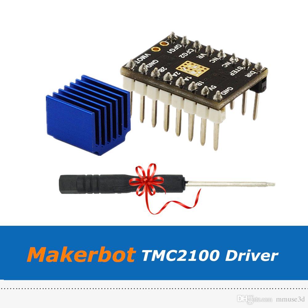5pcs/lot Super Silent V1.0 Makerbot TMC2100 Stepstick Driver Module For Makerbot Mighty Board 3D Printer Part