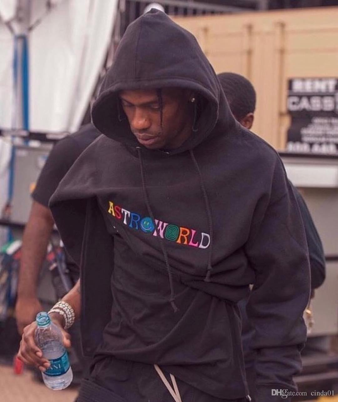 Rapçi Travis Scott Astroworld Hip Hop Kapüşonlular Casual Kapşonlu Sweatshirt Erkek Baskılı High Street Kazak