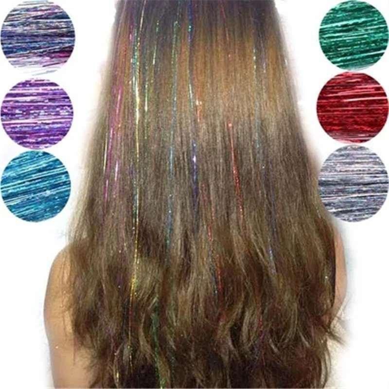 Korean character color colorful colorful light shining gold wig hair streaked hair with no trace of color for men and women