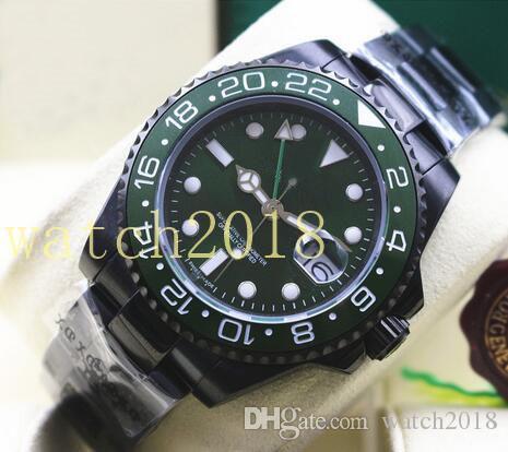 Prestiżowy Zegarek Ze Stali Nierdzewnej 40mm Powłoka Zielona 116710 Ceramiczna Bezel Automatyczne Mechaniczne Mężczyźni Zegarki Najwyższej Jakości