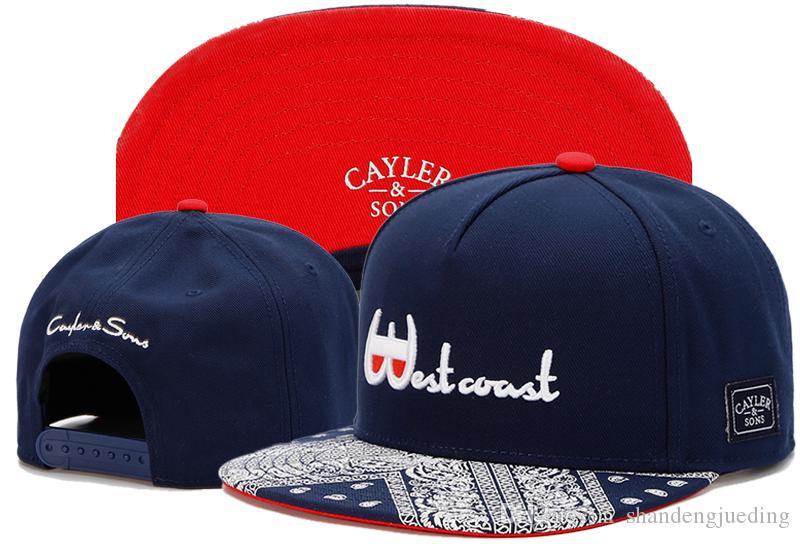 Snapback Regulowane czapki piłki nożnej baseball Cap Zespół Snapbacks Mężczyźni i kobiety Cayler Sons Hip Hop Hat Popularne Mody Dopasowane kapelusze
