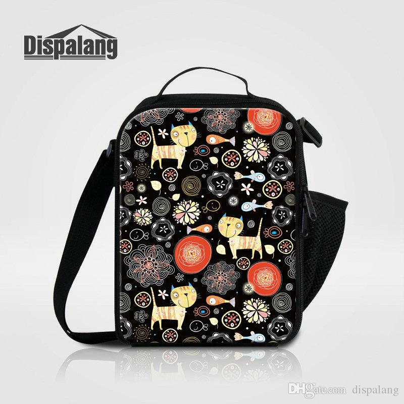 Fashion Portable Insulated Lunch Bag Kids Cartoon Animal Printed Thermal Food Picnic Lunch Bags Women Cooler Lunch Box Meal Food Bag Package