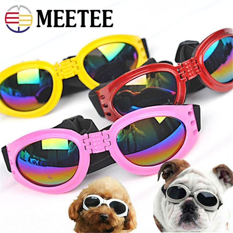 MEETEE New Attractive Pet Dog Lunettes de soleil Lunettes de soleil Lunettes Lunettes Protection pour les yeux Protection pour les yeux Habiller Multi-Couleur Bôme Étanche À L'eau Cool DC-158