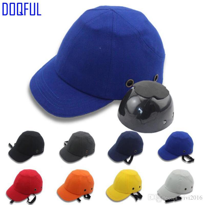 Travail Bump Cap Sécurité Casque de sécurité anti-choc Poids léger Casques de protection de baseball sécurité au travail Chapeau réglable