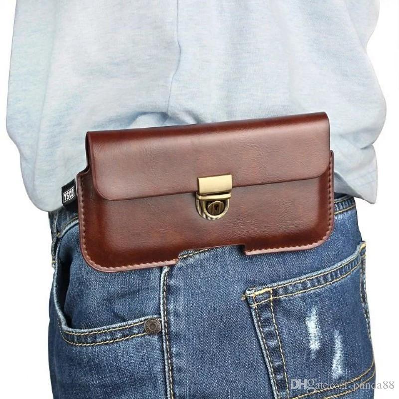 Étui de protection universel en cuir PU avec étui de ceinture pour Sony Xperia XZ2 Premium / L1 / XA1 Plus