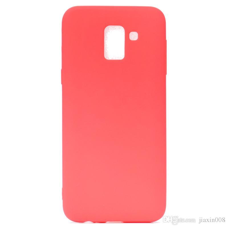 Şeker Renk Kapak Samsung Galaxy Için J6 2018 Avrupa Baskı Durumda Yumuşak TPU Ultrathin Tasarımcı Mobie Telefon Kılıfları Capinha