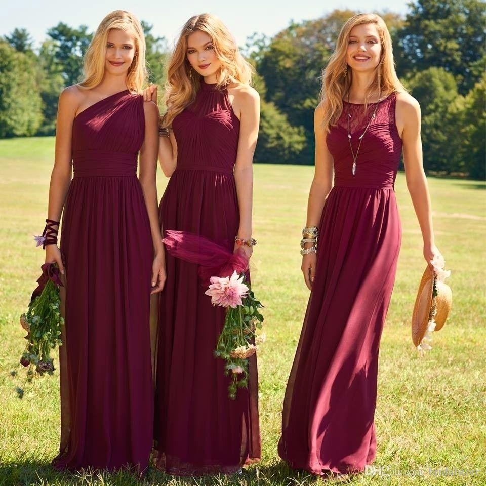 Latest Cheap Country Bridesmaid Dresses Color