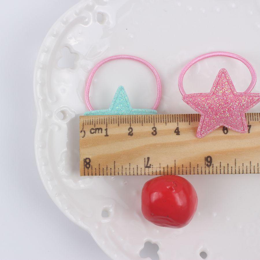 2017 nuove geometriche ragazze stella a cinque punte elastici diametro 30mm + 30mm accessori per capelli belli per i bambini fasce elastiche per capelli