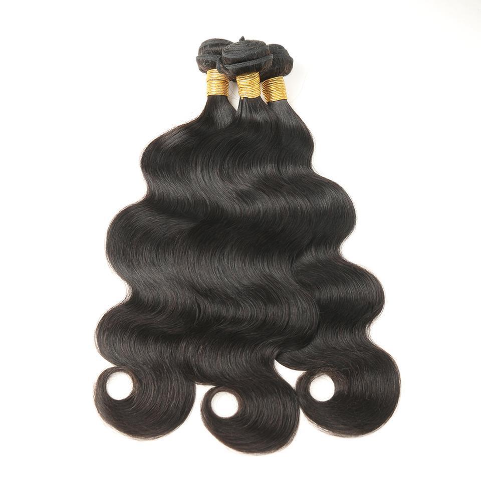 Indian Body Wave Hair 3 Bundles Hair Extensions 100% Unprocessed Human Virgin Hair Weaves Natural Color