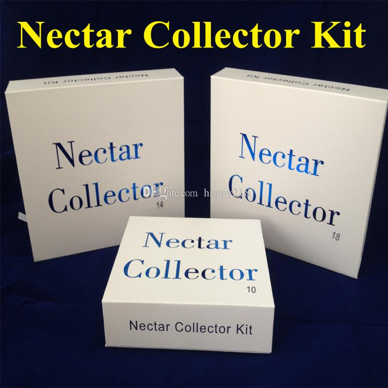 Nectar Collector kit with domeless quartz Nail Titanium nail 10mm 14mm 18mm nector collector kit oil rigs mini glass tube water Pipes