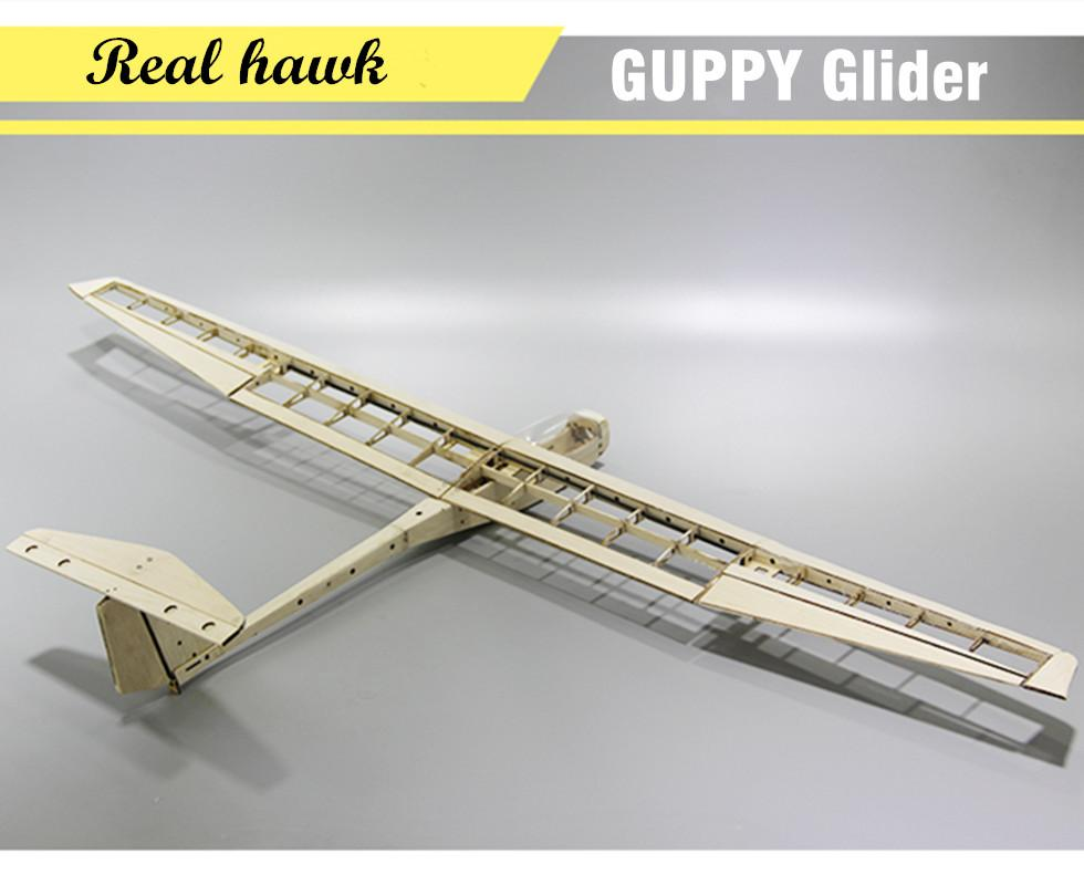GUPPY 1040mm Wingspan Balsa Wood Laser Cut RC Glider Airplane Kit