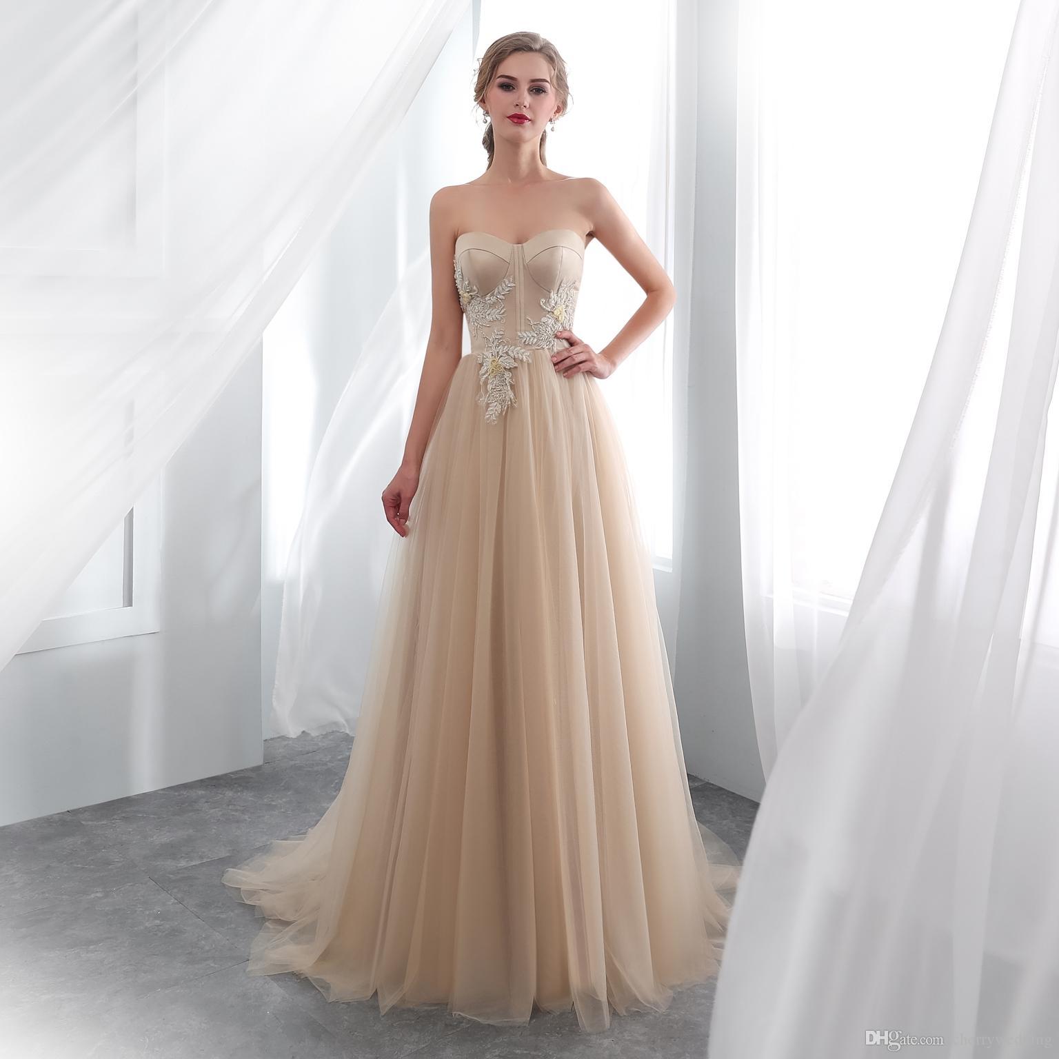 Acheter Robes De Mariée Bustier Real Sample