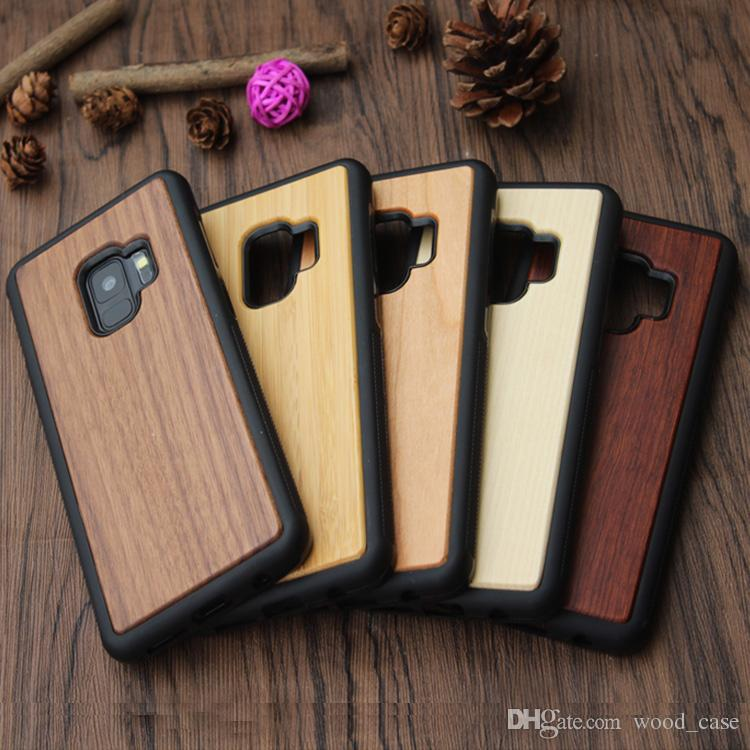 For Iphone X Samsung S8 S9 Plus Wood TPU Case For Galaxy Note 8 S7 edge Wooden Cases Iphone 8 7 6 6S plus Case Bamboo Back Cover Free DHL