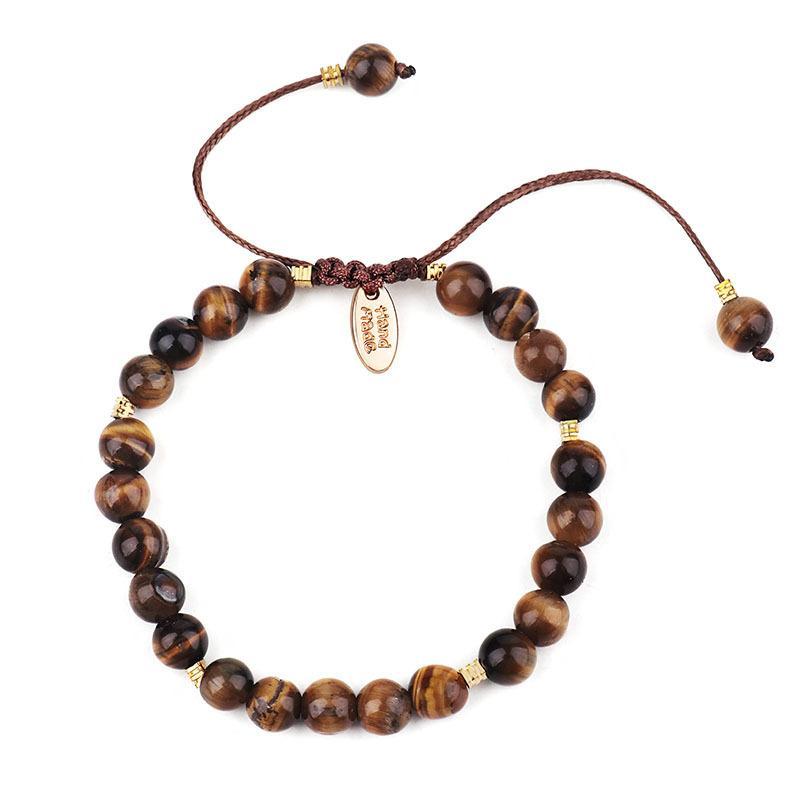 Pedra Natural 4 MM de cristal Pulseiras Tiger Eye Blue Sand Pedra Handmade Bracelet Bangle para mulheres presente Dropship Jóias DIY