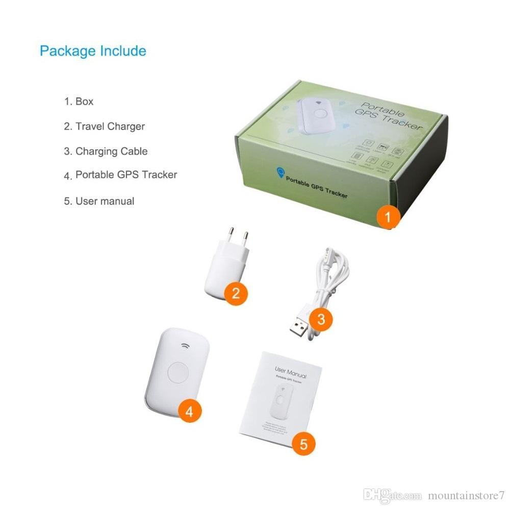 Rastreador de GPS personal portátil con monitor de voz SOS Localizador de GPS de audio bidireccional GPS en tiempo real Rastreador personal GSM