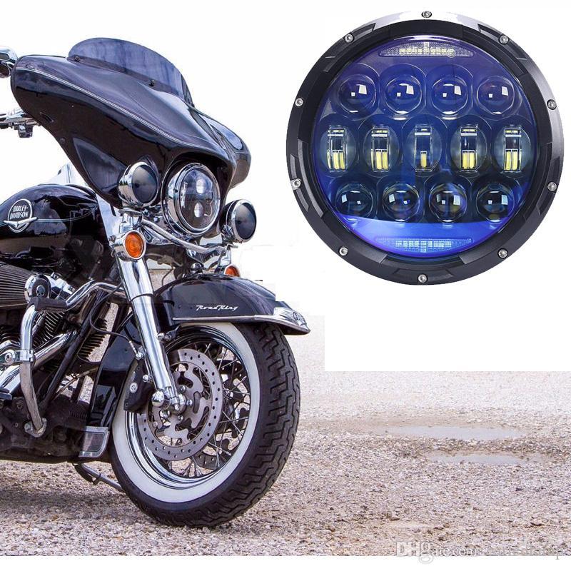 1 STÜCKE 130 Watt 7 zoll runde motorrad led-scheinwerfer für DRL blinker high Abblendlicht H4 LED Scheinwerfer