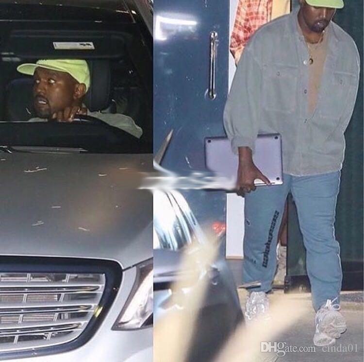 Großhandel Saison 5 Kanye West CALABASAS Jogginghose Herren Casual Joggerhose Brief Gedruckte Bleistift Hose Asiatische Größe Hose HOSPITAL BLUE Von
