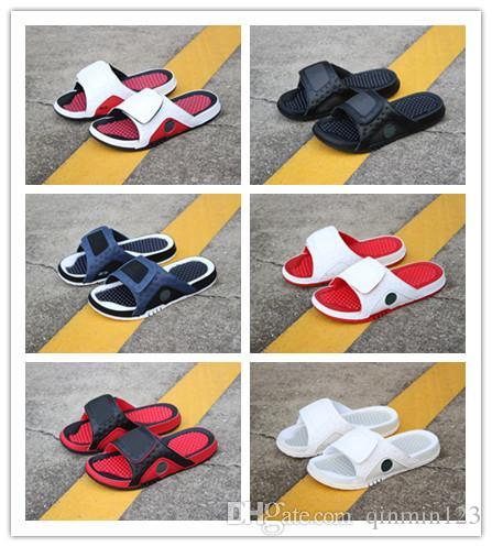 Toptan 13 XIII beyaz siyah kırmızı Slayt sandalet Hydro plaj açık eğitmenler erkekler ayakkabı rahat koşu Spor sneakers boyutu 36-46