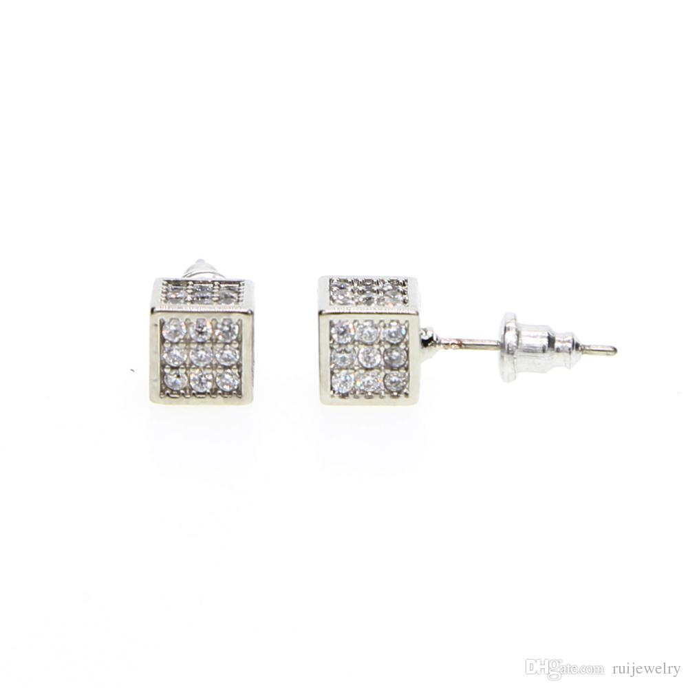 2018 Bling Bling brillante pieno di cristallo orecchini a perno quadrato ragazze gioielli piercing dichiarazione orecchini carino per le donne regalo di moda