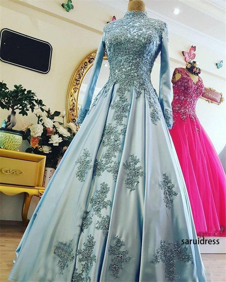 High Neck Country Plus Size Ballkleid Lange Ärmel Spitze Applique Brautkleider Muslimische Spitze Brautkleider Vestido de Novia