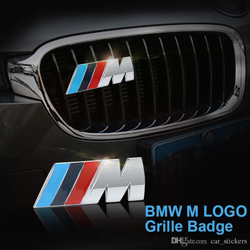 Metallo 3D /// M M Power Logo Adesivo Auto Griglia Anteriore emblema Chrome Badge Decal per BMW E36 E30 E34 E46 E39 E60 E90