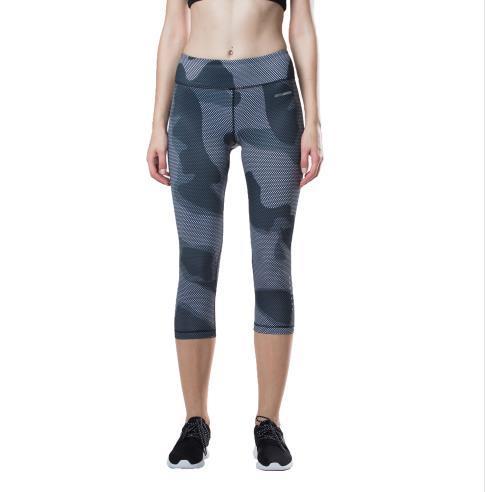 Hopeforth Kamuflaj 3D Baskılı Sıkıştırma Yüksek Bel Karın Kontrol Yoga Pantolon 3/4 Kapriler Için Ince Tayt Gym Fitness Koşu