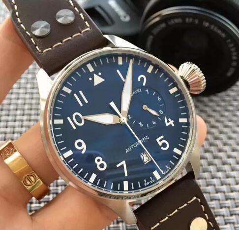 Wristwatch Big Pilot Midnight Blue Dial Automatic Men&039;s Watch 46MM Men Mens Watch Watches.