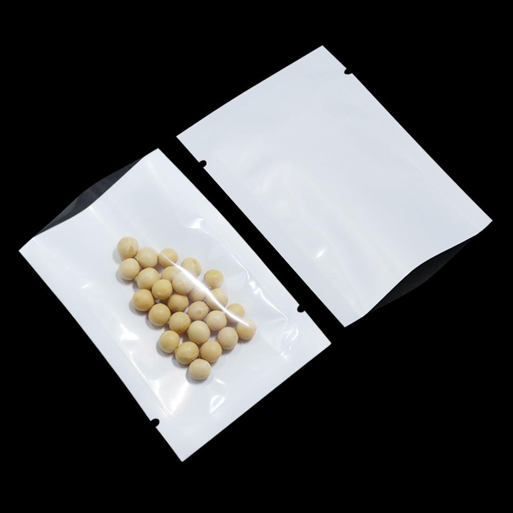 6 * 9 см белый / прозрачный пластиковый пакет с открытым верхом для хранения пищевых продуктов упаковочный мешок Термосваривание вакуумная упаковка мешки сахарное печенье чай полиэтиленовый пакет