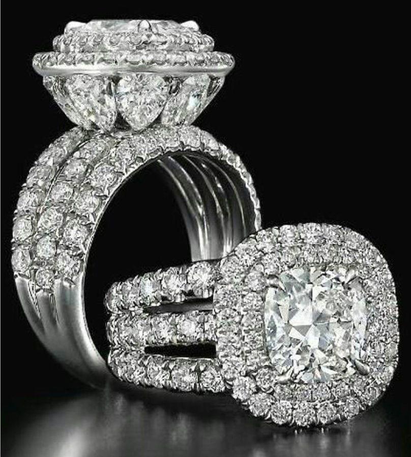 Victoria Wieck Çarpıcı Lüks takı Çift Yüzük 925 Ayar Gümüş Armut Kesim Safir Zümrüt Çok Taşlar Düğün Gelin Yüzük Set