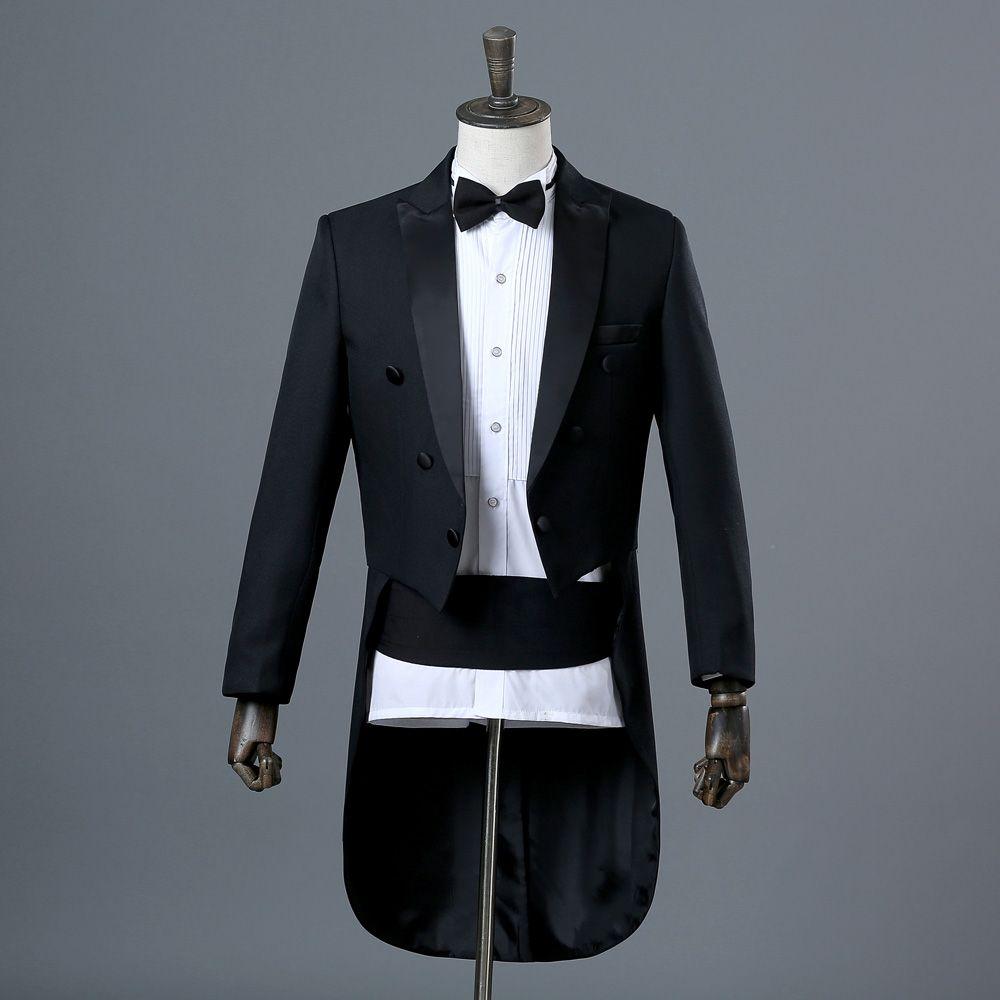 Мужские смокинги Tuxedo Magic Performance Проводник Костюм художника Производительность Джазовый костюм Танцевальная конкуренция