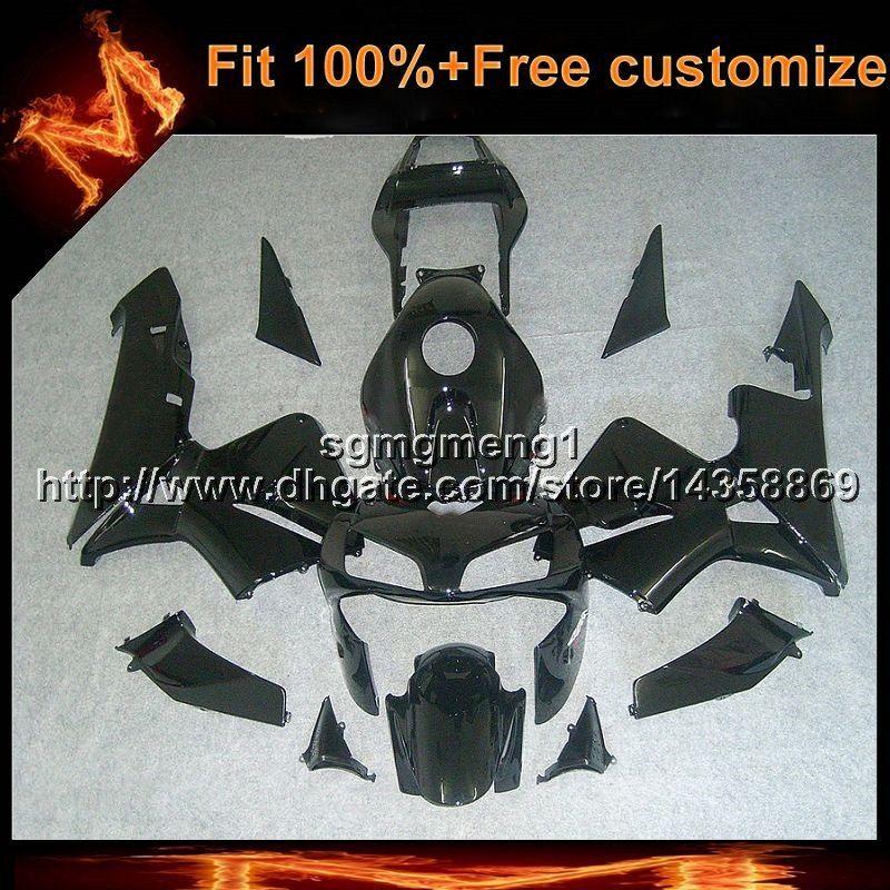 23 colores + 8 regalos Molde de inyección capucha de motocicleta negra para HONDA CBR600RR 2003-2004 CBR 600 RR 03 04 Kit de carenado de motor de plástico ABS
