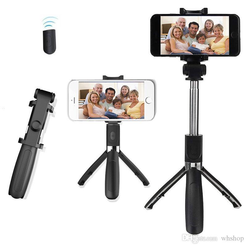 확장 가능한 Selfie 스틱 삼각대, 무선 블루투스 원격 셔터 및 모노 포드, 삼성 iPhone X 베스트 셀러