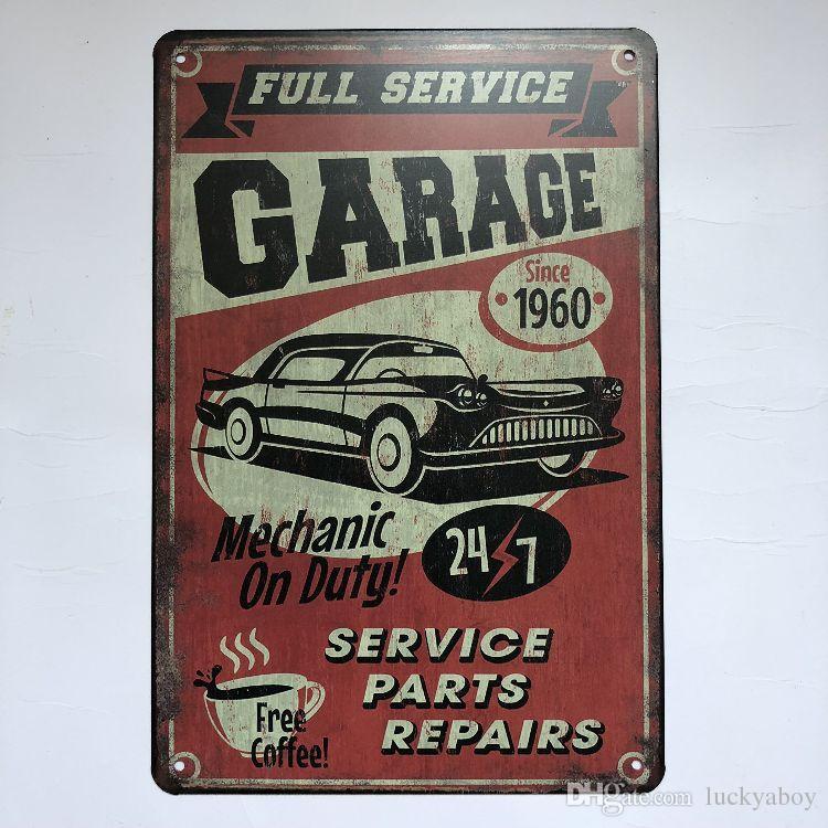 Full Service Garage Repair Vintage Rustic Home Decor Bar Pub Hotel Restaurant Coffee Shop home Decorative Metal Retro Metal Tin Sign