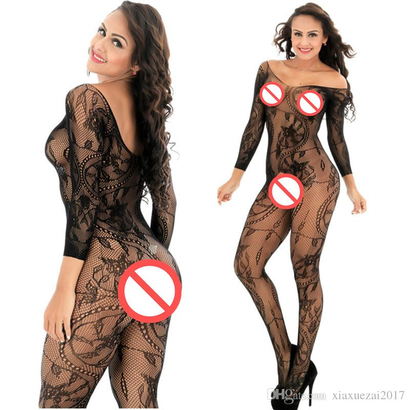Women's Sexy Lingerie Bodysuit Hot Bodystocking Fishnet Stockings Sexy Costumes Underwear Sex Products Gridding Erotic Lingerie Sex Toys