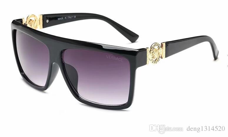 Livraison gratuite mode luxe preuve de lunettes de soleil rétro vintage hommes marque designer brillant cadre en or laser logo femmes top qualité avec 40369