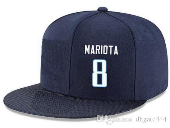 Cappelli di Snapback Personalizzato qualsiasi numero di nome del giocatore # 8 Mariota # 94 Johnson Tutti i tappi personalizzati del team accettano il logo o il nome del ricamo piatto personalizzato