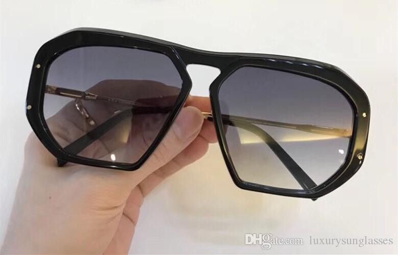 CE Designer De Luxo Mulheres CE400251 Óculos De Sol Envoltório Designer Designer de proteção UV Modelo Unisex Quadro Grande Leopardo Dupla Cor Quadro