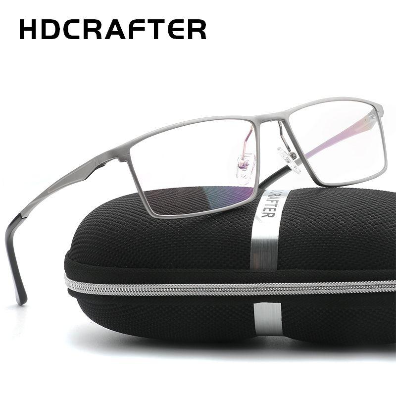 Hdcrafter الرجال النساء إطارات النظارات البصرية إطارات النظارات التجارية الأزياء النظارات الطبية الإطار الألومنيوم