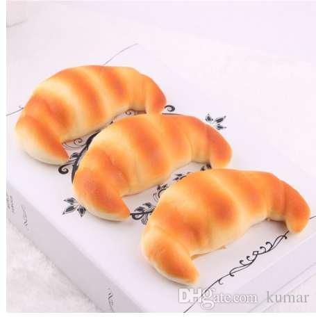 Etmakit Langsam steigende Croissants Squishy Handyanhänger Kawaii Soft Squeeze Duftendes Brot Kuchen Stretchy Spielzeug Geschenk Nette Simulation