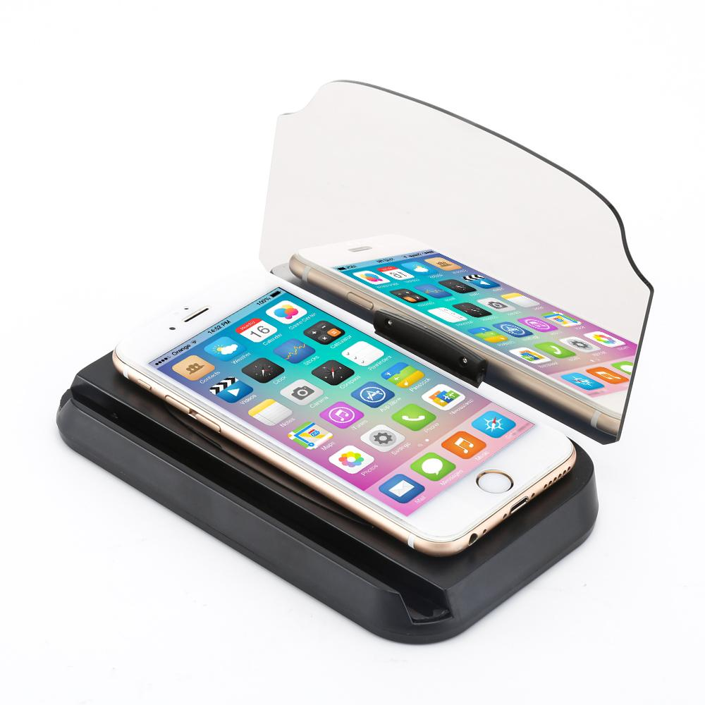 Supporto per auto per cellulare Proiettore universale per parabrezza HUD Head Up Display Display a testa 6.5 pollici per iPhone / Samsung GPS