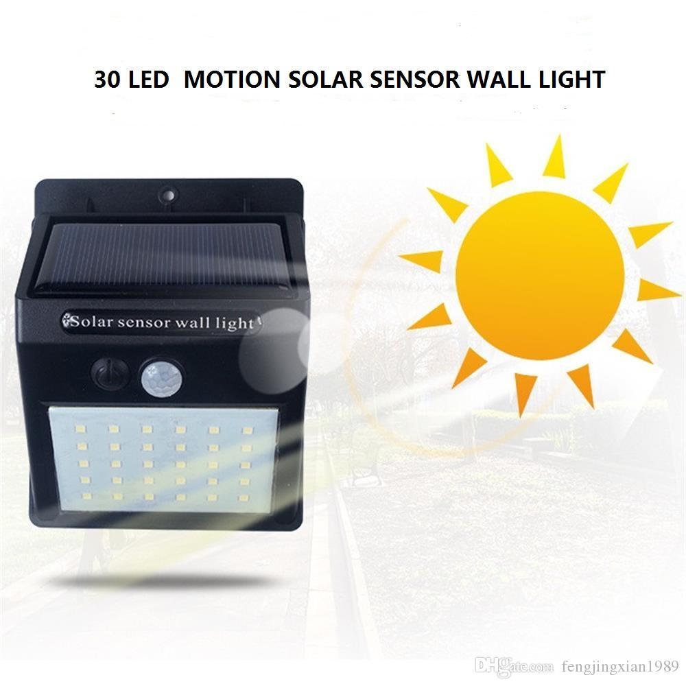 Luz exterior da parede do diodo emissor de luz de 30 luzes exteriores brilhantes do sensor de movimento, luz impermeável sem fio da segurança para a plataforma da jarda do pátio da entrada de automóveis do jardim