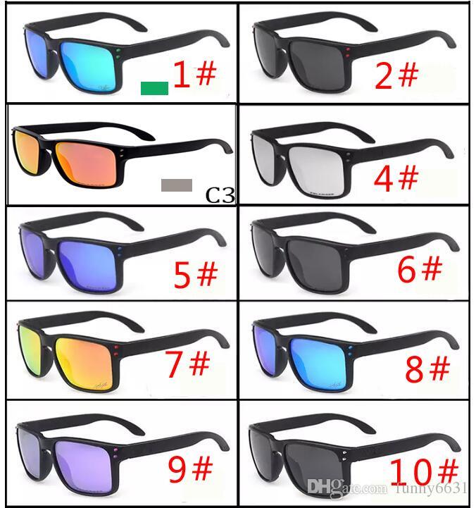 MOQ=10pcs HOT SALE Brand man and woman Polarized Sunglasses Men Women Sport Cycling Glasses Goggles Eyewear VR46 gasses 10 color free ship