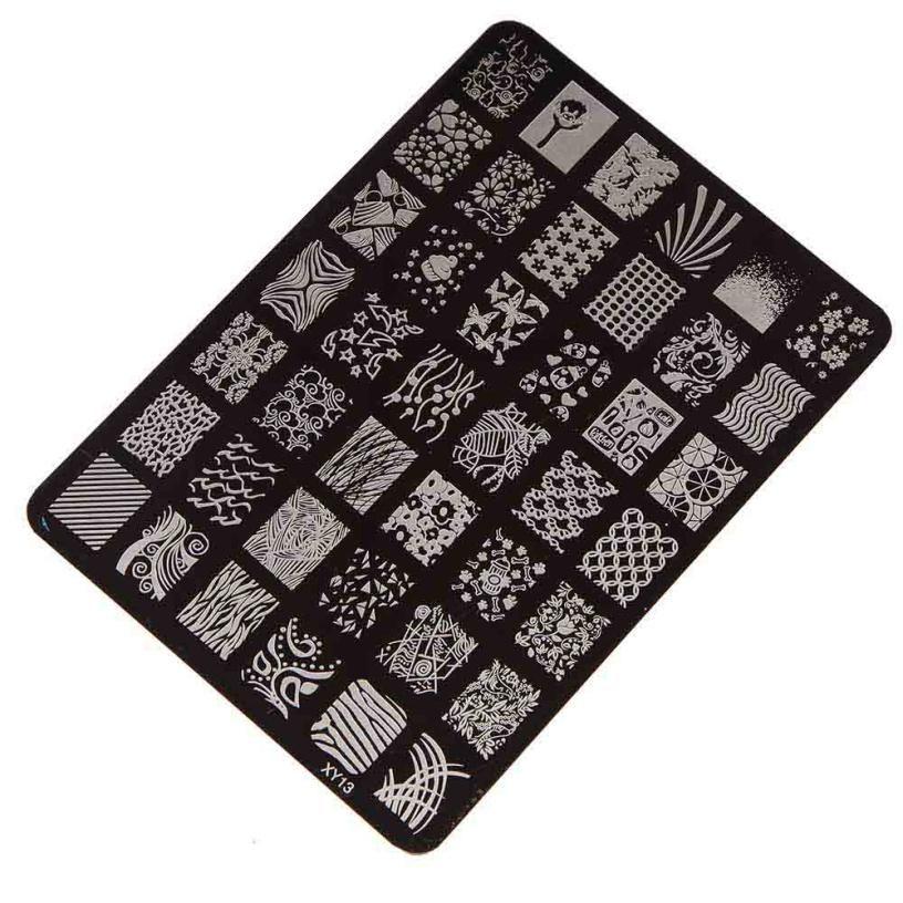 Melhor Negócio Boa Qualidade Nail Stamping Placa de Impressão Manicure Nail Art Decor Selos de Imagem Placa para As Mulheres Senhora Beleza 1 conjunto